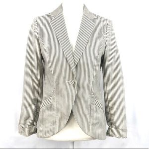 French Connection striped blazer.